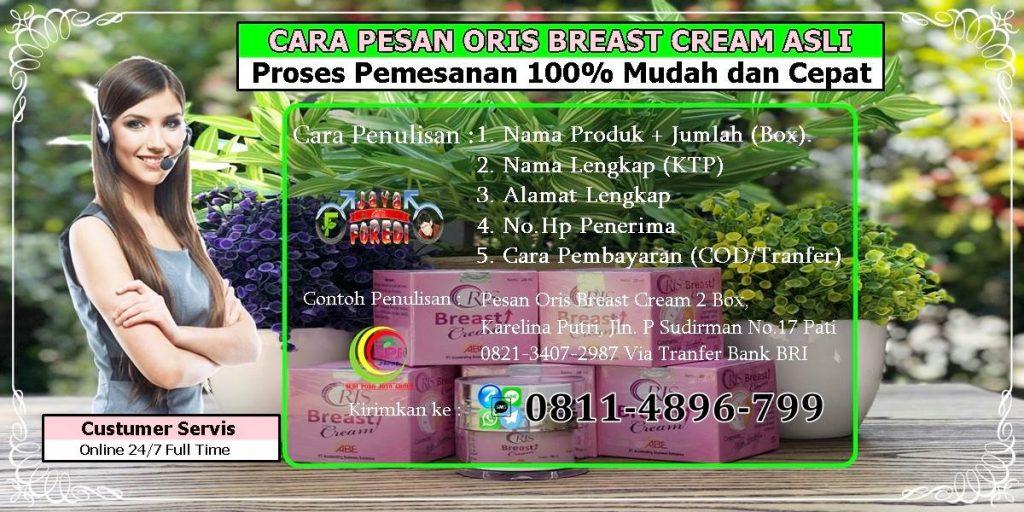 Cara pesan Oris Breast Cream dengan mudah dan cepat.
