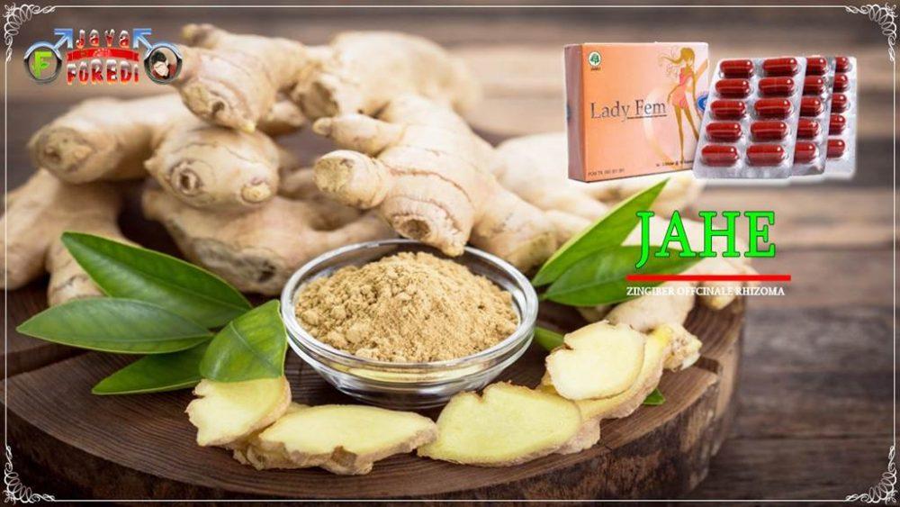 Komposisi Ladyfem mengandung herbal jahe