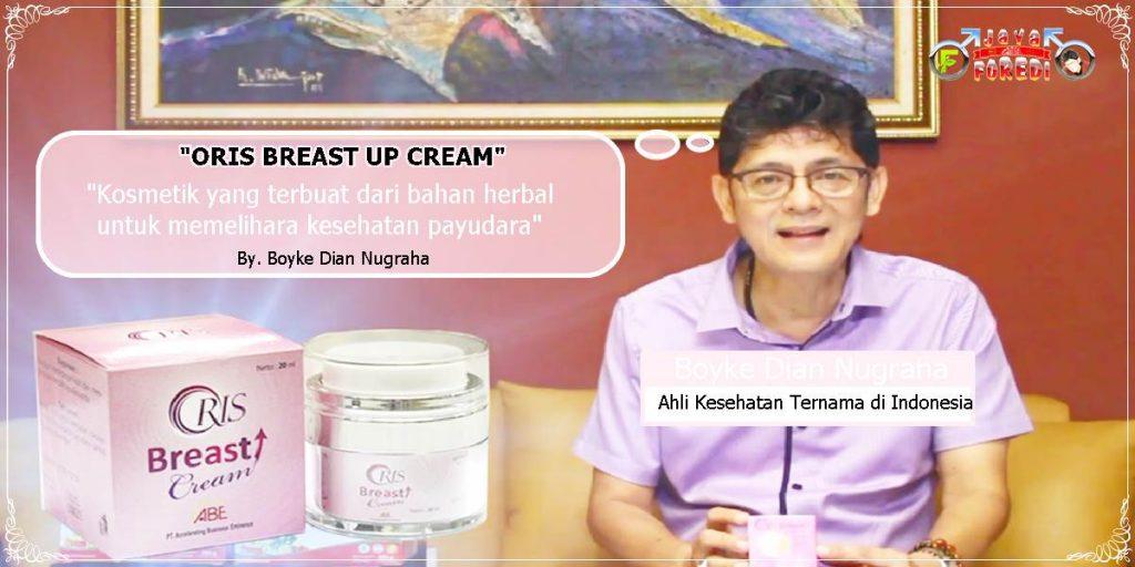 Oris Breast Cream Pengencang Payudara rekomendasi Dokter Boyke dian nugraha