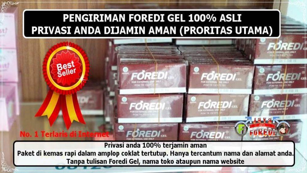 Stock dan pengiriman Foredi gel asli ke seluruh wilayah di Indonesia