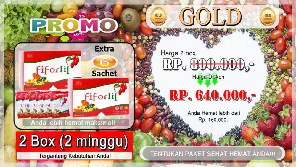 Harga Fiforlif Promo Paket Gold Gratis 6 Sachet