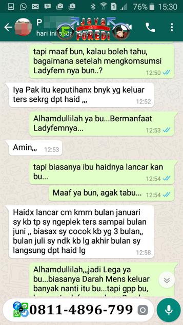 Testimoni Pengguna Ladyfem untuk keputihan 3