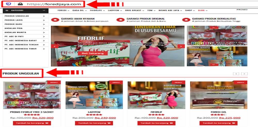 Agen Fiforlif Asli menggunakan Domain Resmi