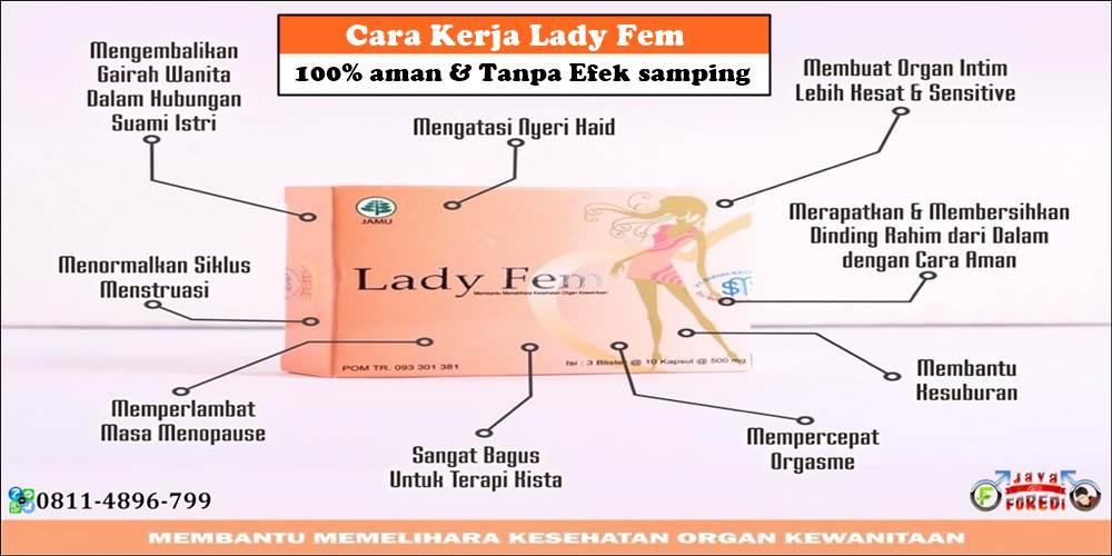 Cara kerja Ladyfem terbukti aman dan tanpa efek samping