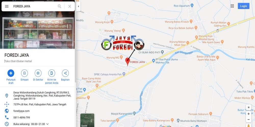 Denah lokasi alamat Toko Sudi Podo Joyo Group