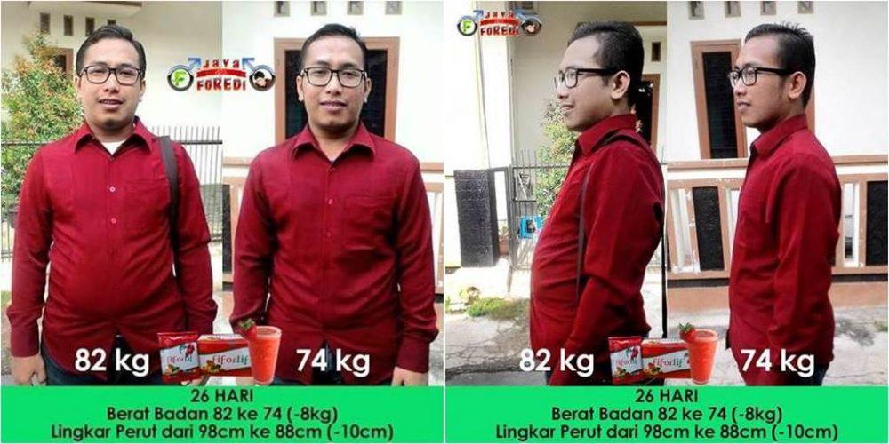 Kesaksian pengguna Fiforlif menurunkan berat badan sekaligus mengecilkan perut buncit
