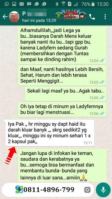 Testimoni LadyFem Melancarkan Haid 3