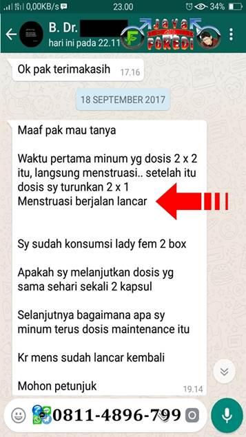 Testimoni LadyFem Melancarkan Haid 1