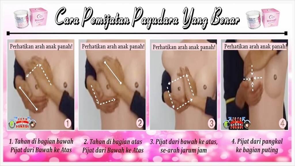 Cara pemijatan payudara menggunakan oris breast cream yang benar