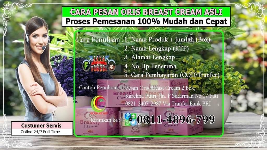 Cara pesan oris breast Cream asli dengan mudah dan cepat