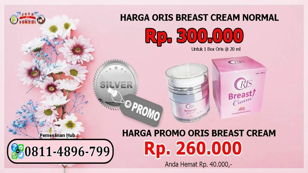 Promo Harga Oris Breast Cream Paket Silver