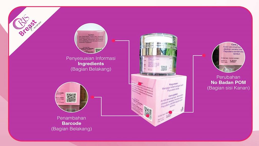 Kemasan Oris Breast Cream Asli terbaru